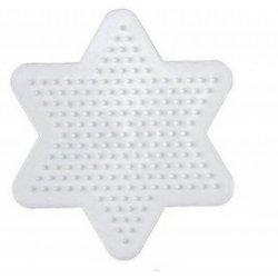 Hama 270 - biała podkładka mała gwiazda - koraliki midi