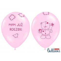Balon 30 cm Mam już roczek - lateksowy, różowy