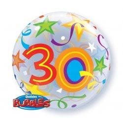Qualatex Balon na 30 urodziny Okrągły jak piłka plażowa - 56 cm