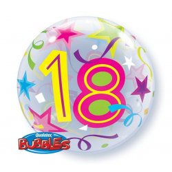 """Qualatex Balon 22"""" 18 urodziny Okrągły jak piłka plażowa"""