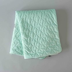 Kocyk pikowany Velvet Collection - Mint - La Millou