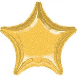 """Balon foliowy złota gwiazda 18"""""""