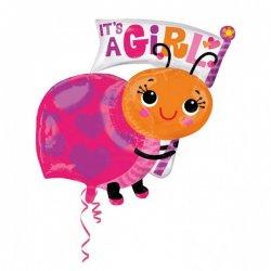 """Balon foliowy 25"""" It's a girl biedronka"""