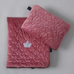 Pościel Velvet Collection - blanket and mid pillow, mulberry- La Millou