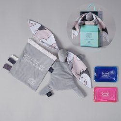 Thermo bunny - Velvet collection - Dark grey, Unicorn sugar bebe- La Millou