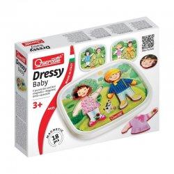 Quercetti 4425 - Układanka dressy baby - puzzle magnetyczne