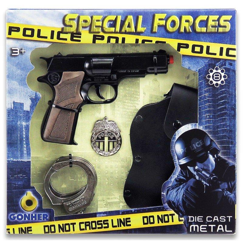 GONHER 425/6 - Pistolet Policyjny na kapiszony + akcesoria