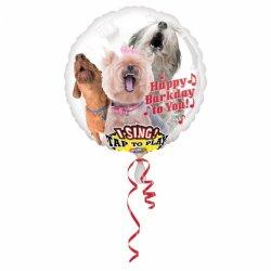 """Balon Foliowy PSY grający - Happy Birthday """"hał hał"""""""