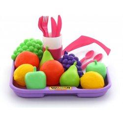 Polesie 46970 - Owoce i Naczynia z Tacą - Wader Quality Toys
