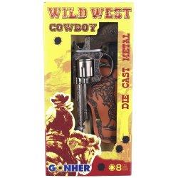 COWBOY METALOWY REWOLWER + KABURA GONHER 201/0