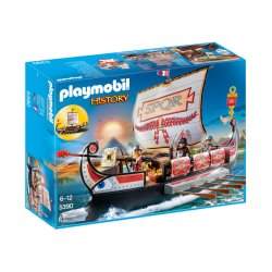 Playmobil 5390 - Rzymska Galera z Ustawianymi Żaglami