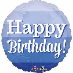 """Balon 17"""" Happy birthday niebieski"""