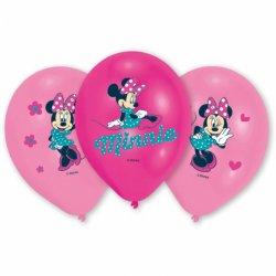 """6 balonów Myszka Minnie - 11"""" 27,5 cm - balony lateksowe"""