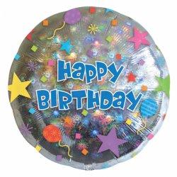 """Balon Urodzinowy Fajerwerki Foliowy 18"""" (45 cm) - Happy Birthday"""
