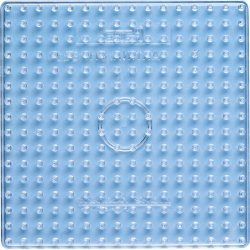 Hama 8214 - Kwadratowa, przeźroczysta podkładka - koraliki maxi