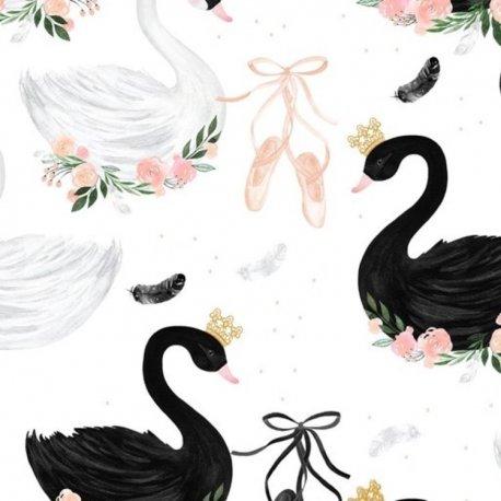 Poduszka Angel's Wings Velvet - Moonlight swan, powder pink - La Millou