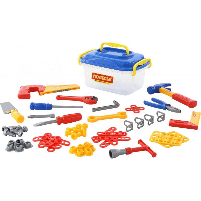 Zestaw plastikowych narzędzi do zabawy - dla dzieci