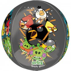 Balon foliowy, kula - Angry Birds 38x40 cm