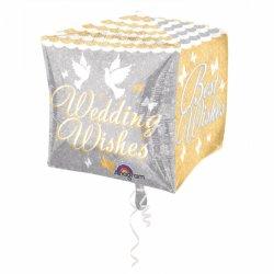 Balon foliowy 38x38 cm - Ślubne życzenia