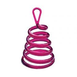 Ciężarek do balonów - Sprężyna, różowa