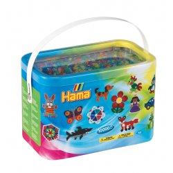 Hama 202-54 - Brokatowe Koraliki Midi 10'000 Sztuk, mix kolorów