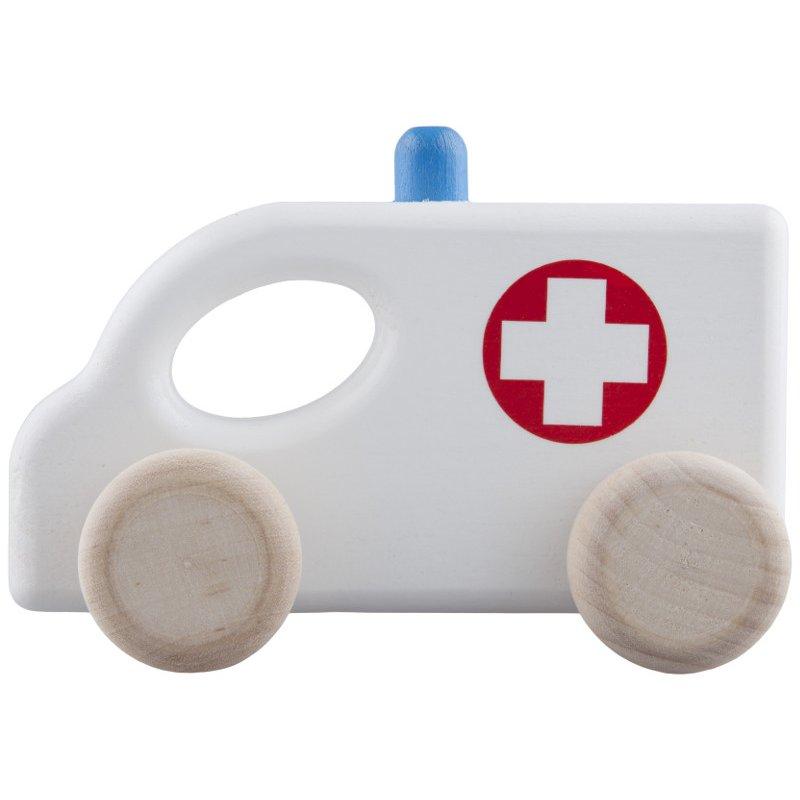 Drewniany pojazd - Ambulans z drewna bukowego