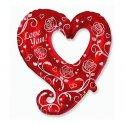 """Fantazyjne Serce 24"""" (około 61 cm) - Balon Foliowy"""