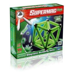 Klocki Magnetyczne Supermag Maxi 44 el - Świecące w ciemności