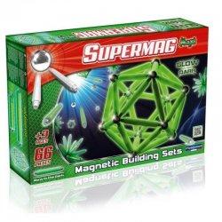 Klocki Magnetyczne Supermag Maxi 66 el - Świecące w ciemności