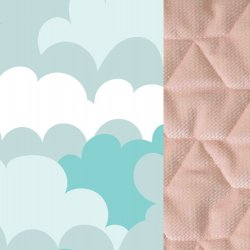 Thermo bunny - Velvet collection - Powder pink, Cloudy sky - La Millou