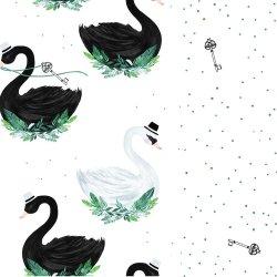 Pościel L - Jungle swan, jungle swan lake - La Millou