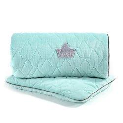 Pościel Velvet Collection - blanket and mid pillow, audrey mint - La Millou
