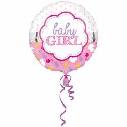Balon Narodziny Dziecka Baby Girl - dla dziewczynki - Koala 43 cm