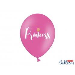 Balon lateksowy 30cm - Princess, Pastel Hot Pink