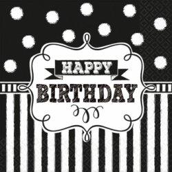 "Serwetki ""Happy Birthday"" - 16 sztuk 25x25cm"