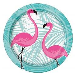 """Talerzyki papierowe """"Flamingo"""" 8 szt, 22 cm"""