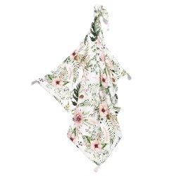 Bambusowy otulacz King Size - Wild Blossom, Fringe - La Millou