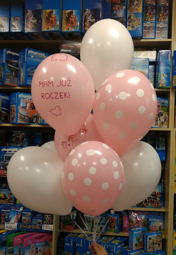Balony z helem na pierwsze urodziny - Mam już roczek :)