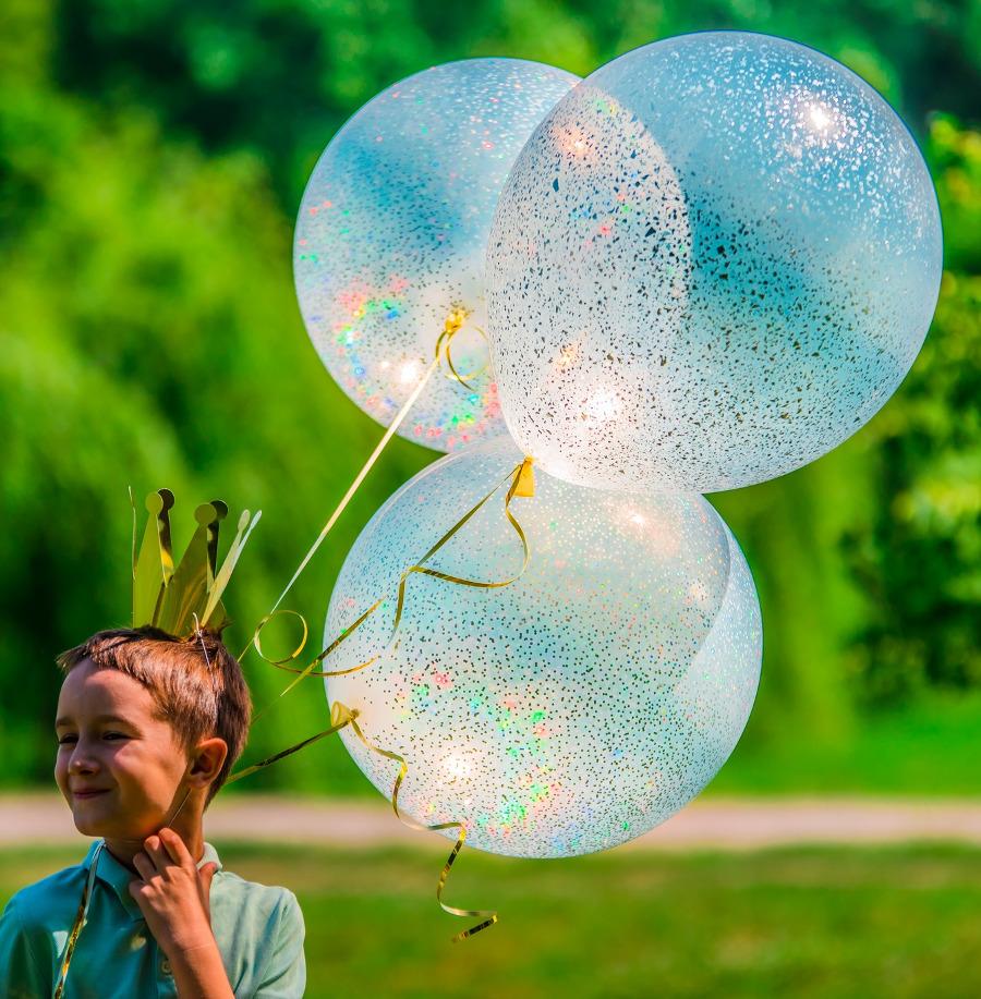 Balony z brokatem - Kraków