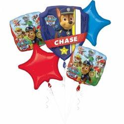Bukiet balonów foliowych Psi patrol 1 x (63cm x68cm) 2 x 43cm 2 x 48cm