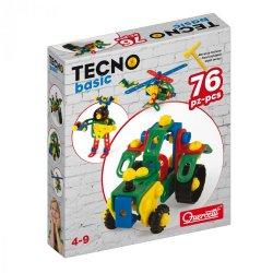 Quercetti 0562 - Zestaw Konstrukcyjny dla Dzieci Tecno Basic 76 el