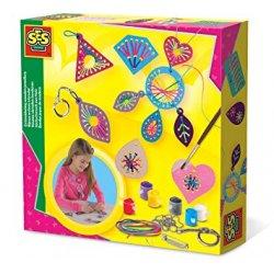 Zestaw biżuteria dla dzieci, drewniane elementy