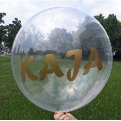 Balon z piórkami - transparentny - Dekoracje Ślubne Kraków