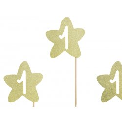 Dekoracje do muffinek na 1 urodziny - 1st Birthday Cupcake Toppers