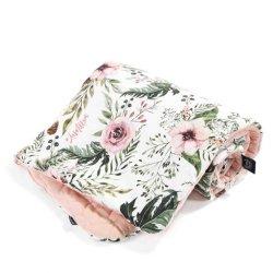 Kocyk Velvet Cotton -Wild blossom, powder pink - La Millou