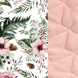 Zestaw Kid Kit Velvet dla przedszkolaka, Wild blossom, powder pink, La Millou