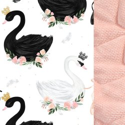 Zestaw Kid Kit Velvet dla przedszkolaka, Moonlight swan, powder pink, La Millou