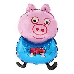 """Balon Świnka Georg 26"""" z bajki Świnka Pepa, napełniony helem"""
