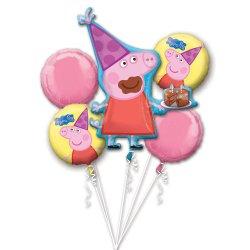 Bukiet Balonów Foliowych - Świnka Peppa