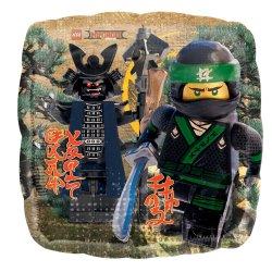 "Balon Foliowy Kwadrat 17"" Ninjago"